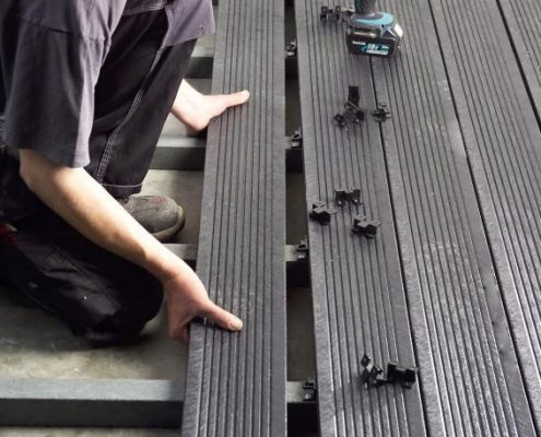 Perdirbto plastiko gaminiai lentos terasoms