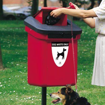 Šunų išmatų šiukšliadėžės