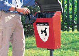 Šunų išmatų šiukšliadėžė