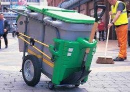 Šiukšlių surinkimo vežimėliai