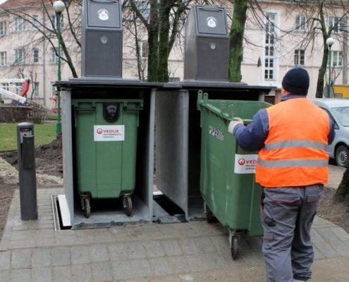 Senamiesčiui siūlys mažesnius konteinerius | UAB D-rek - aplinkos elementai, mažoji architektūra
