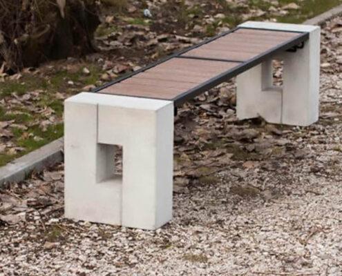 Betoniniai suolai Roma | Lauko suoliukai | Aplinkos elementai | Miesto mažoji architektūra